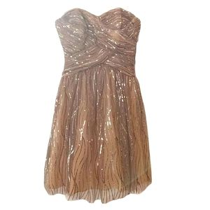 Adrianna papell tube top dress sparkle tulle 12